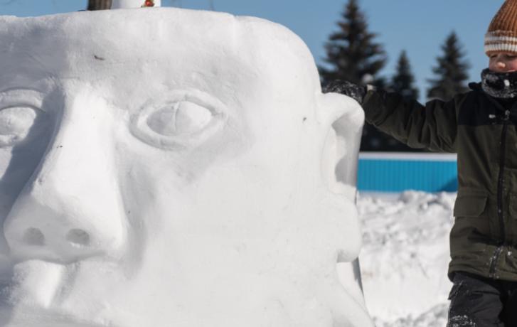 Activite de sculpture sur neige TOHU