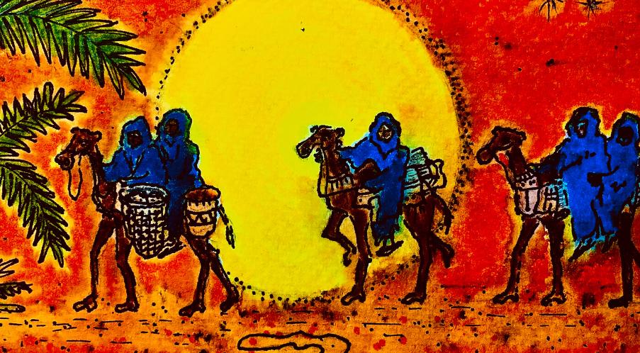 5 La caravane des chameaux multicolores